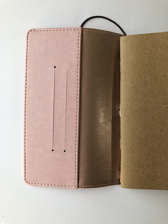 Rose Gold Traveler Notebook