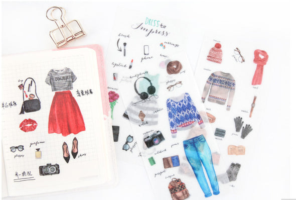 6 Sheets Fashion Planner Stickers