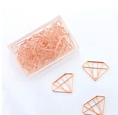 Rose Gold Planner Clips