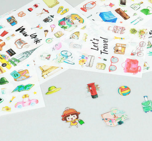 Set of 6 Travel Stickers