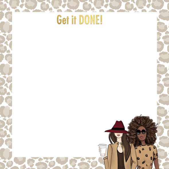 Cheetah & Girls Leaves Sticky Notes
