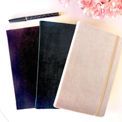 Velvet Hard Cover Journal