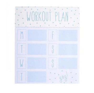 Workout Plan Notepad/ Fitness Planner