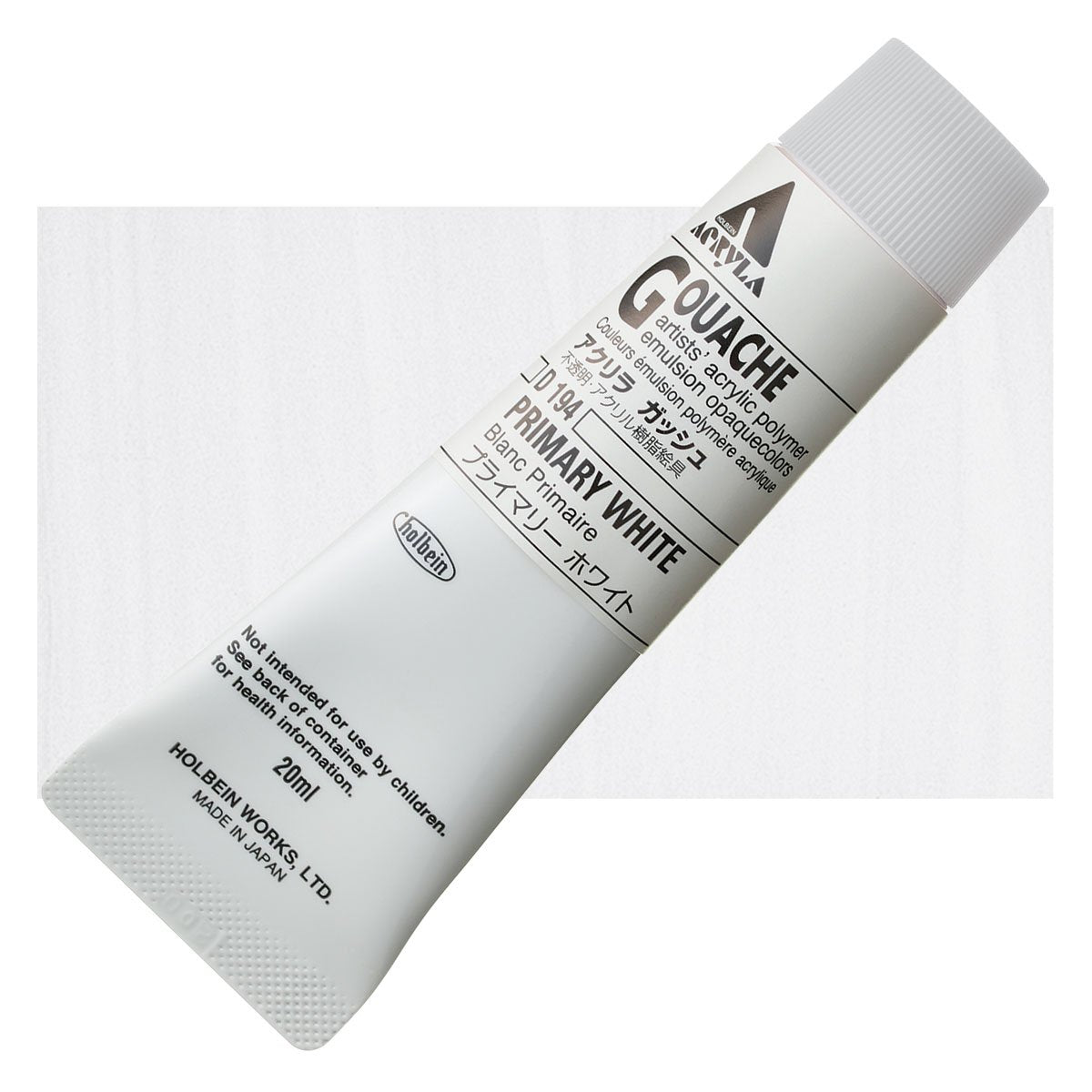Holbein Acryla Gouache 20ml Tubes - Primary White by Holbein - K. A. Artist Shop