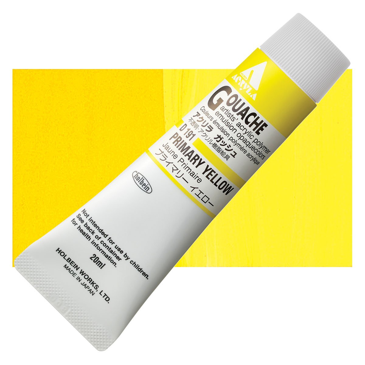 Holbein Acryla Gouache 20ml Tubes - Primary Yellow by Holbein - K. A. Artist Shop