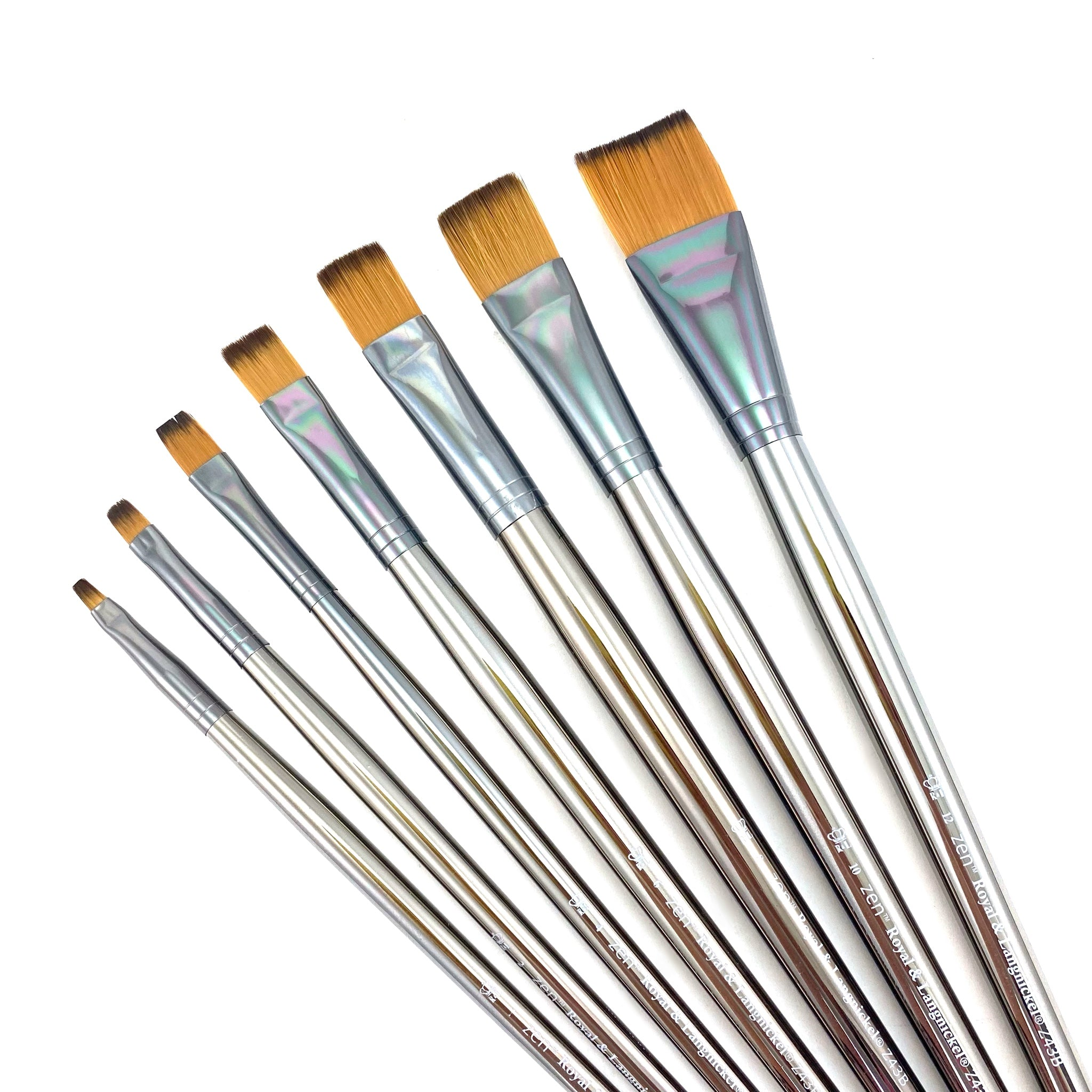Royal & Langnickle Zen Long Handle Brushes - 43 Series - Bright / 6 by Royal & Langnickle - K. A. Artist Shop