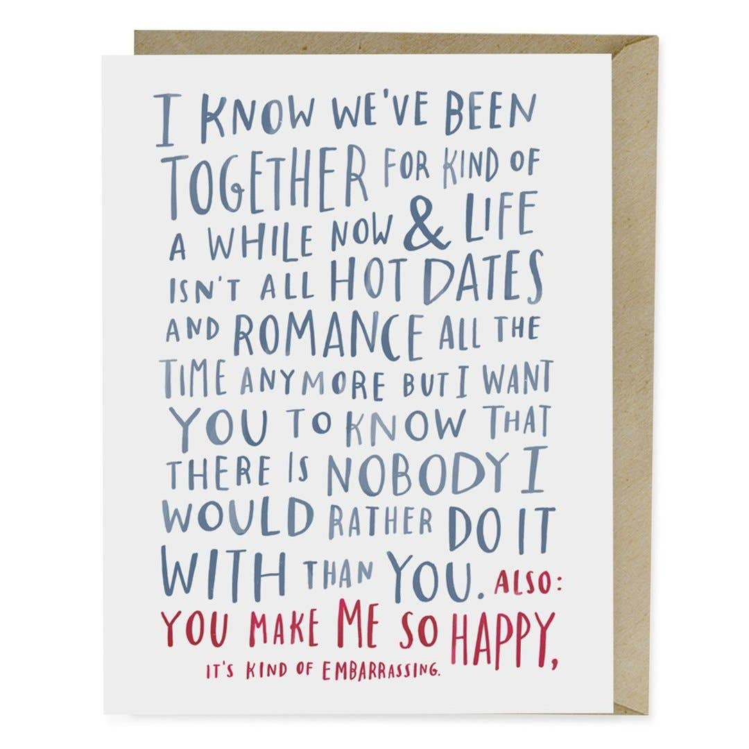 """Awkward Love"" Anniversary Cardby Emily McDowell - by Emily McDowell - K. A. Artist Shop"