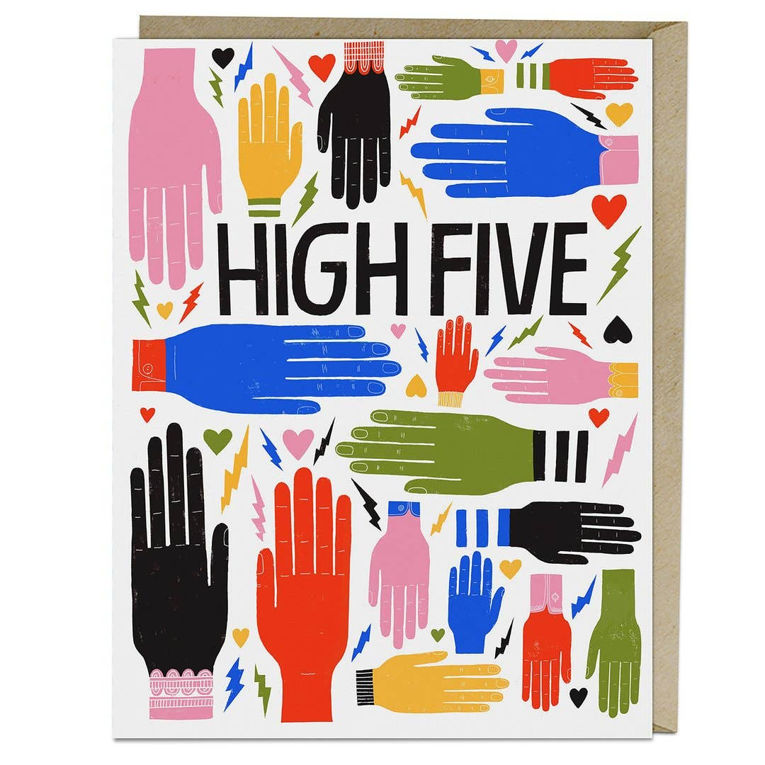 """High Five"" Card by Lisa Congdon - by Lisa Congdon - K. A. Artist Shop"