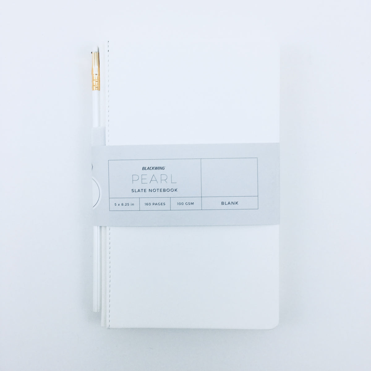 Blackwing Pearl Travel Notebook with Pearl Pencil
