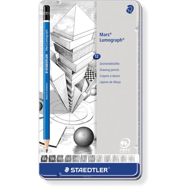 Staedtler Mars Lumograph Pencil Set - set of 12 (medium degrees) by Staedtler - K. A. Artist Shop