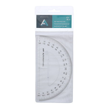 Art Alternatives 6 inch Protractor (180-Degree) - by Art Alternatives - K. A. Artist Shop