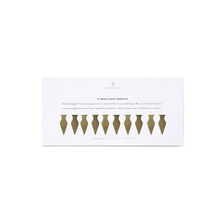 Brass Page Markers by Appointed