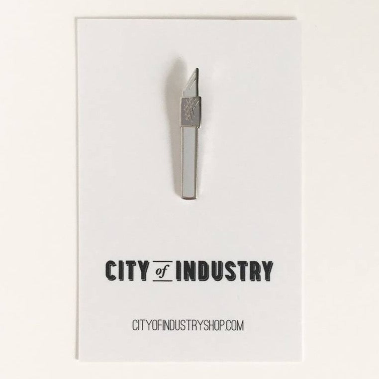 City of Industry Utility Knife Enamel Pin - by City of Industry - K. A. Artist Shop