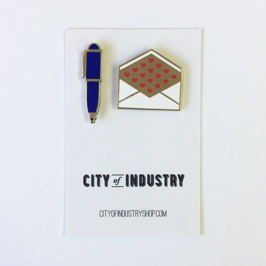 City of Industry Pen Pal Set Enamel Pin