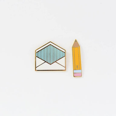 City of Industry Correspondence Set Enamel Pin - by City of Industry - K. A. Artist Shop
