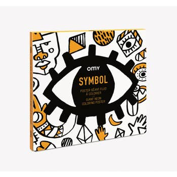 Symbols Coloring Poster by OMY