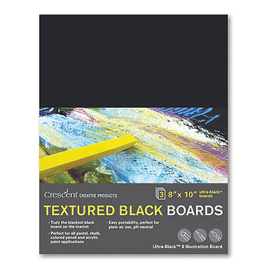 Crescent Ultra-Black Textured Board - 3 Packs - by Crescent - K. A. Artist Shop