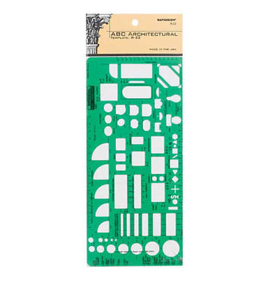 Pickett Rapidesign ABC Architectural Template R-22 - by Chartpak - K. A. Artist Shop