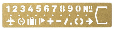 Brass Template Bookmark Numbers - by Traveler's Company - K. A. Artist Shop
