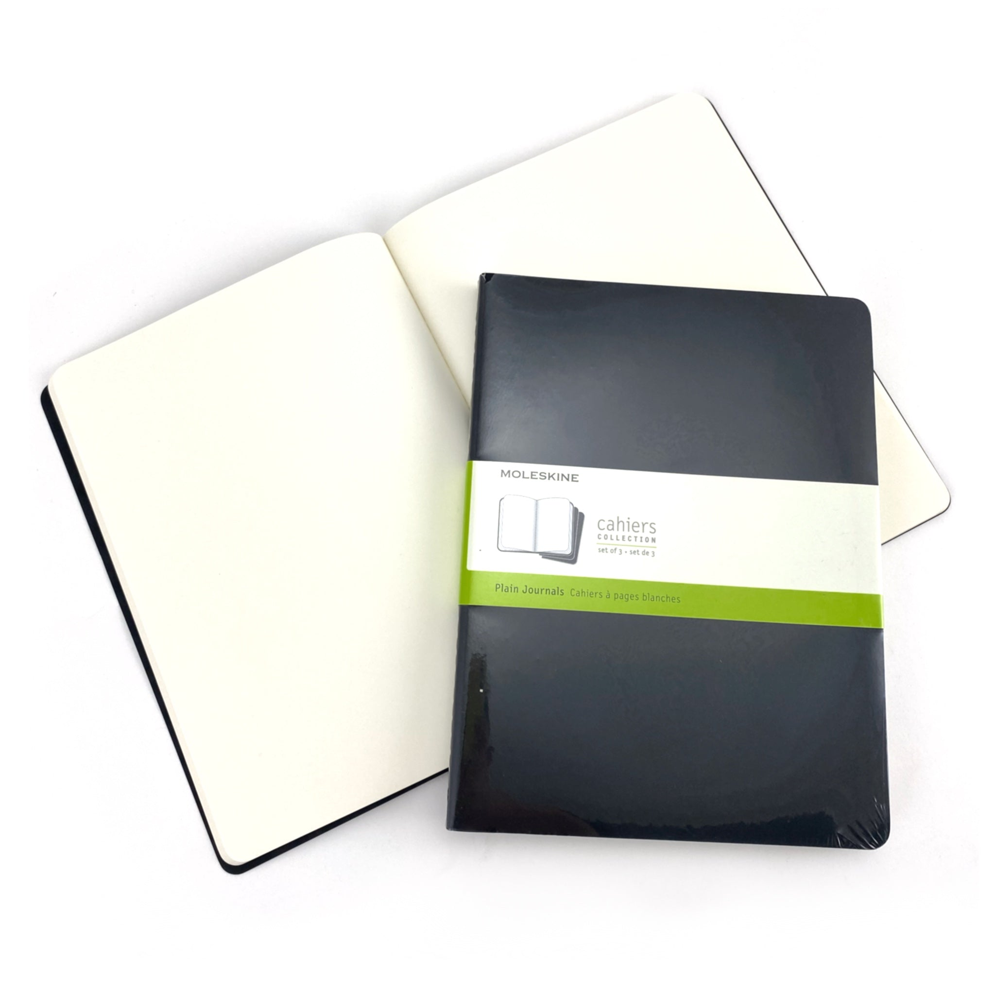 Moleskine Cahier Journals - 7.5 x 9.75 inches - Individual Notebook - Black / Plain by Moleskine - K. A. Artist Shop