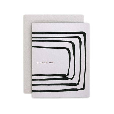 """I Love You"" Stripe Greeting Card by Moglea - by Moglea - K. A. Artist Shop"