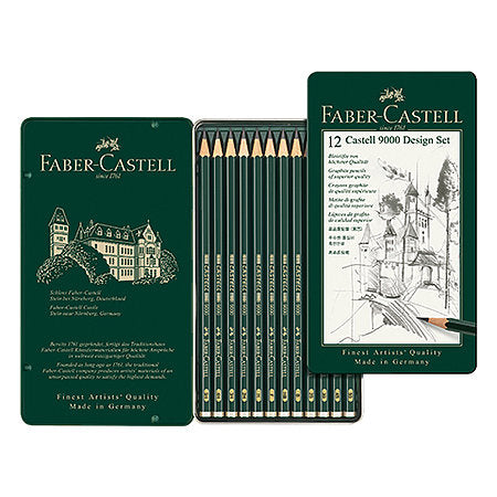 Faber-Castell 9000 Pencil Set of 12