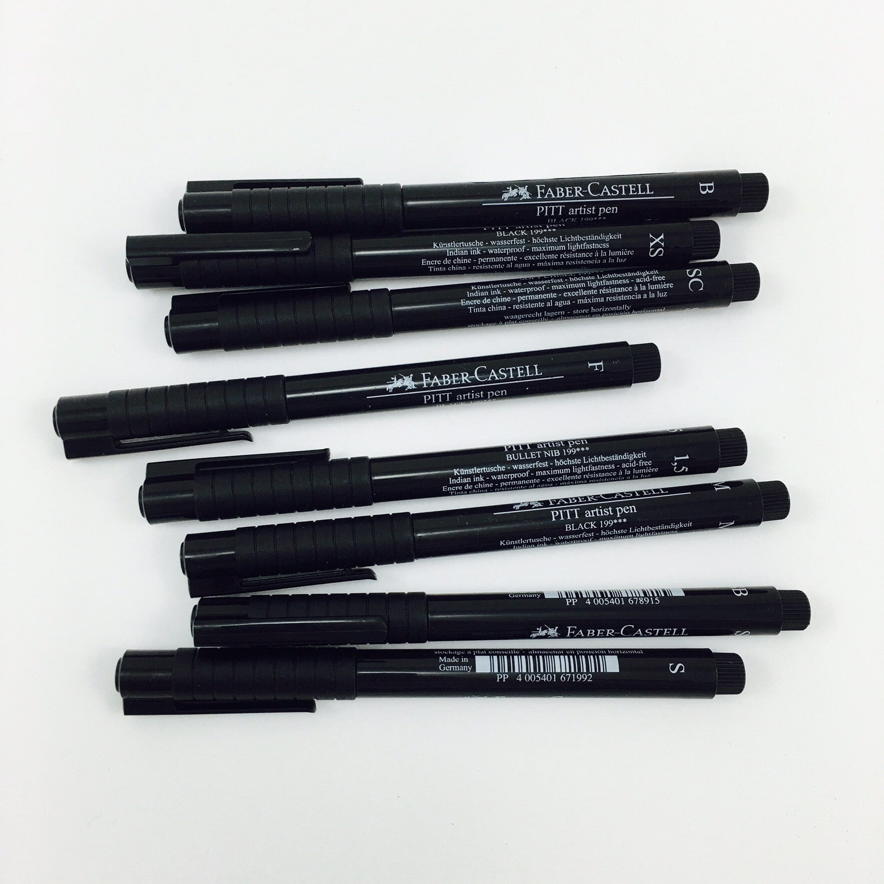 Faber-Castell PITT Artist Pens - Black Ink in Assorted Nibs - by Faber-Castell - K. A. Artist Shop