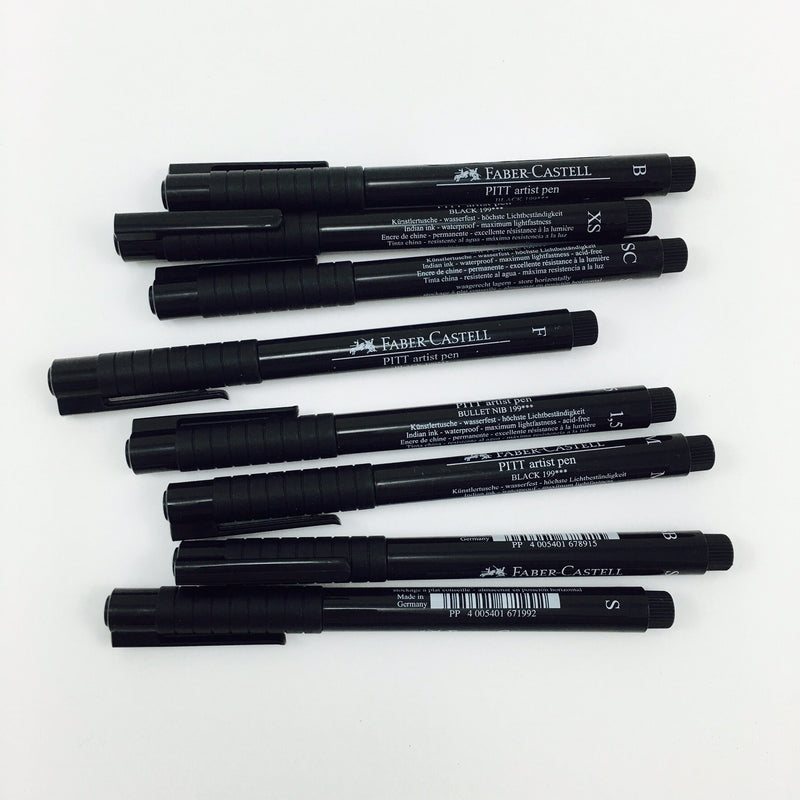 Faber-Castell PITT Artist Pens - Black Ink in Assorted Nibs