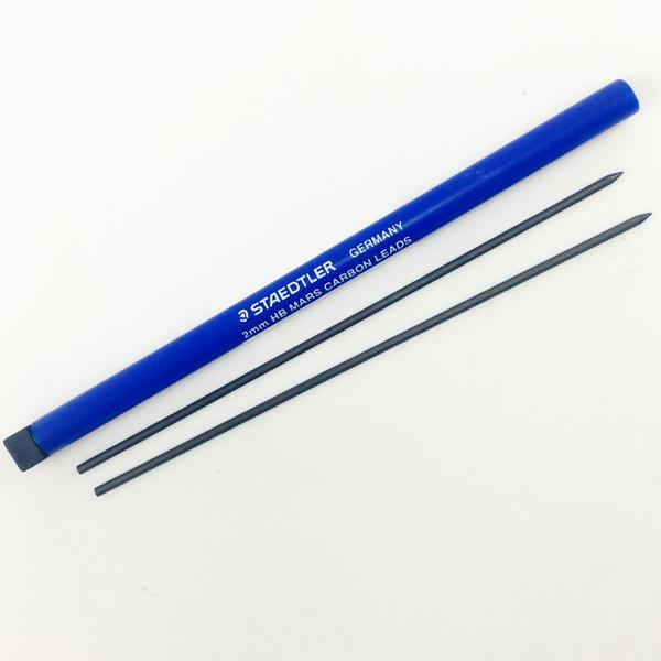 Staedtler Mars Lumograph Carbon Leads - 2mm 2/pk - by Staedtler - K. A. Artist Shop