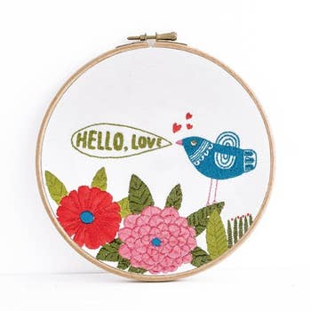 """Hello"" Embroidery Kit by budgiegoods"