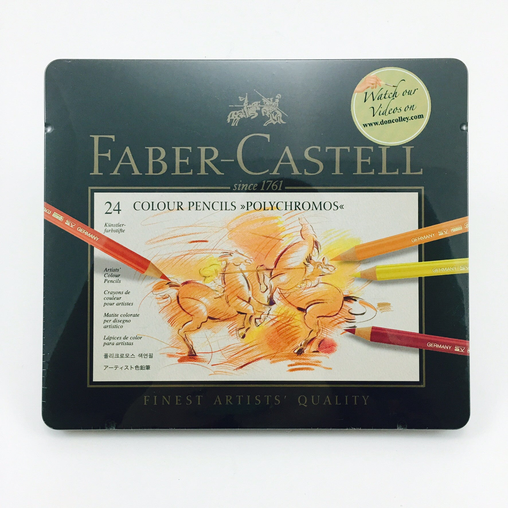 Faber-Castell Polychromos Colored Pencil Sets - Set of 24 by Faber-Castell - K. A. Artist Shop