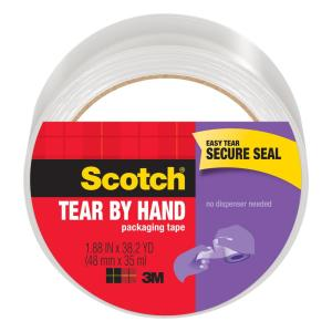 Scotch Tear By Hand Packaging Tape - Tear By Hand by Scotch - K. A. Artist Shop