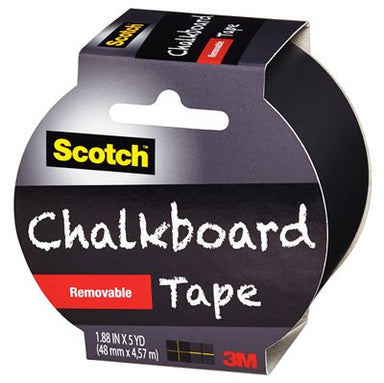 Scotch Chalkboard Tape - 1.88 inches x 5 yards - by Scotch - K. A. Artist Shop