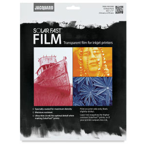 Jacquard Solar Fast Transparent Film - 8.5x11 inches - by Jacquard - K. A. Artist Shop
