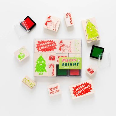 Merry And Bright Stamp Kit by Yellow Owl Workshop - by Yellow Owl Workshop - K. A. Artist Shop