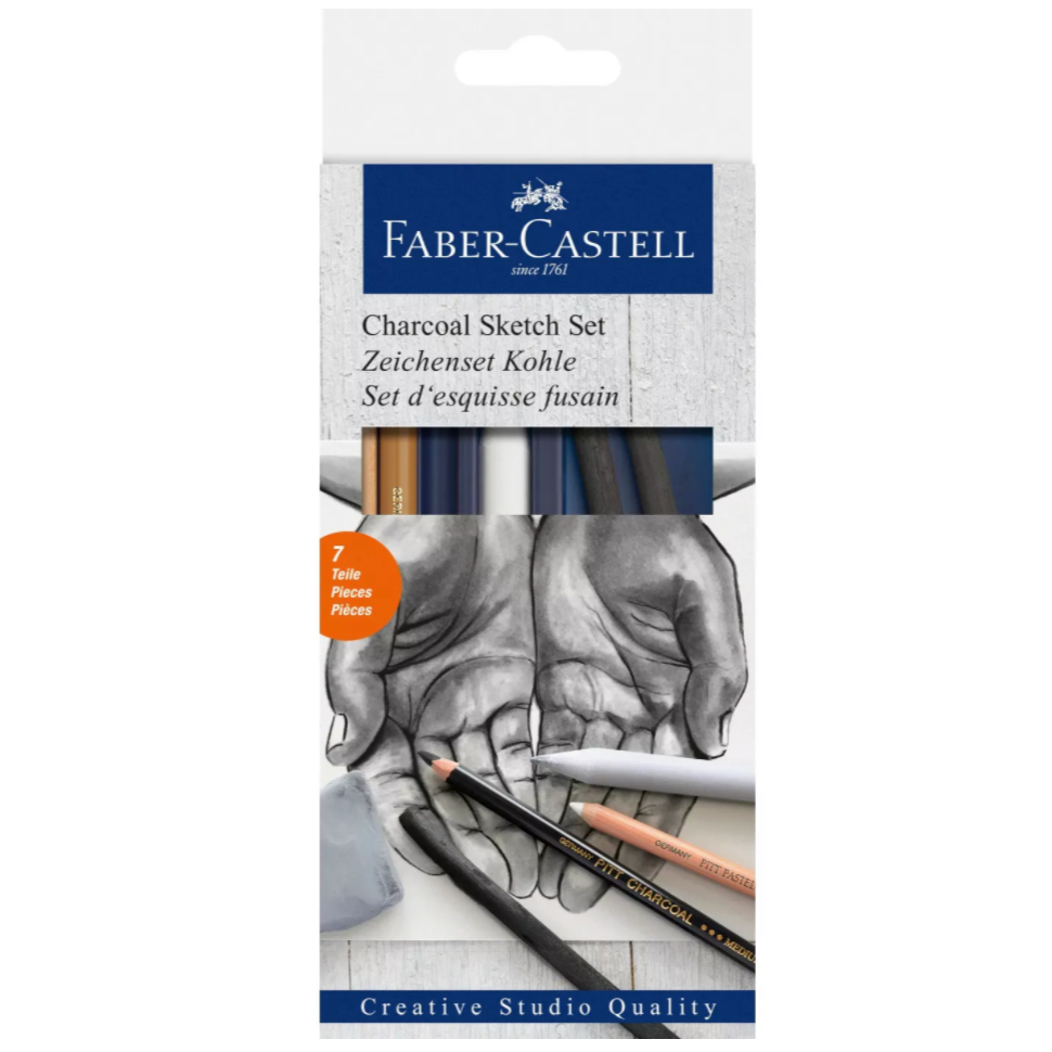 Faber-Castell Creative Studio - Charcoal Sketch Set - by Faber-Castell - K. A. Artist Shop