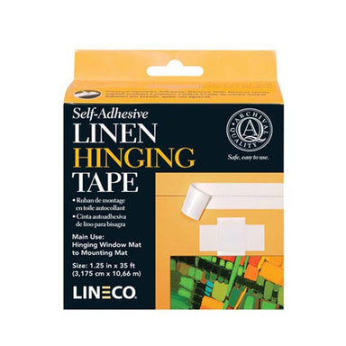 Lineco Self-Adhesive Linen Hinging Tape - 1.25 inches x 35 feet - by Lineco - K. A. Artist Shop