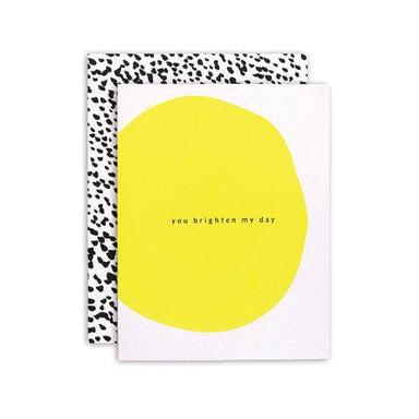"""You Brighten My Day"" Card by Moglea - by Moglea - K. A. Artist Shop"