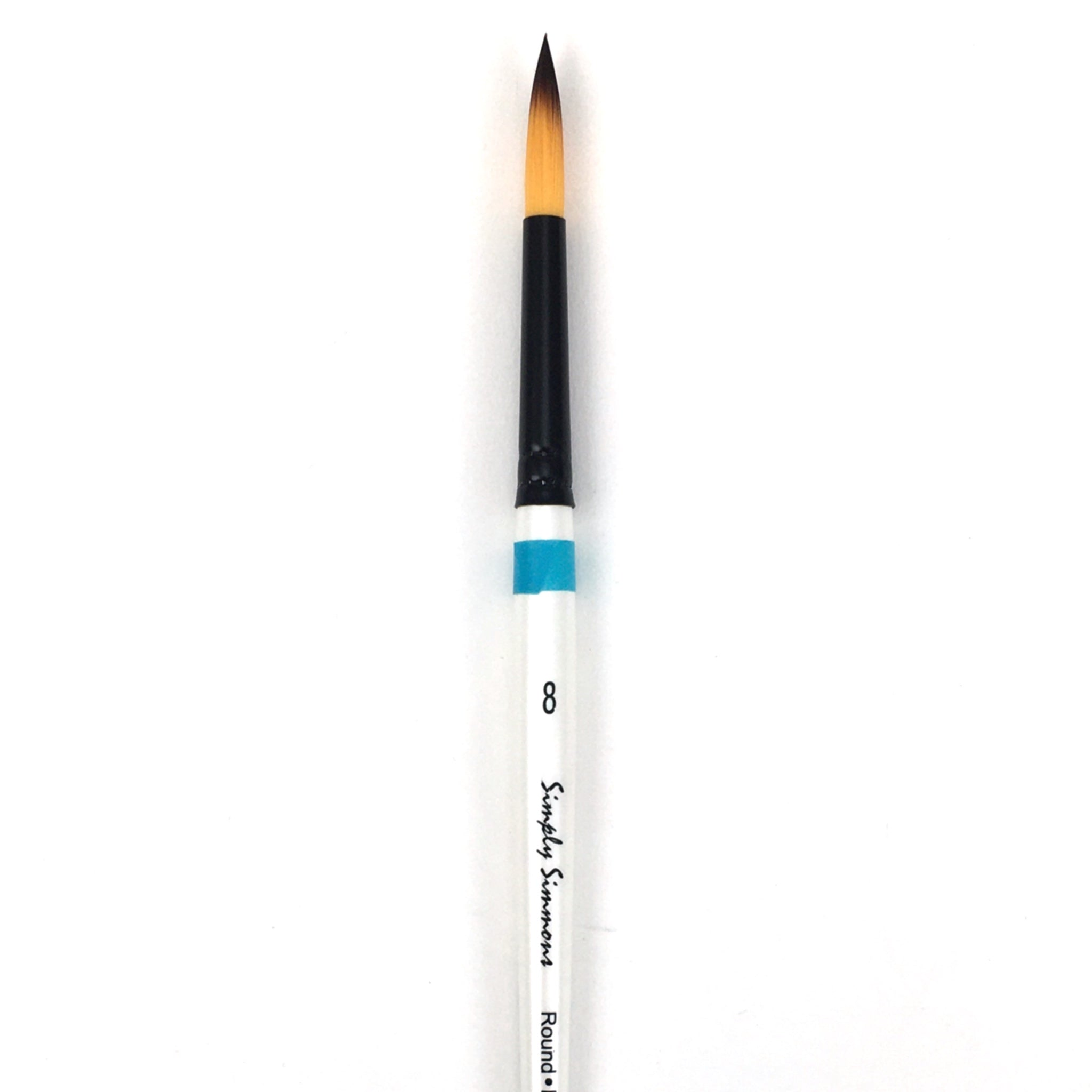 Robert Simmons Simply Simmons Watercolor Brush (Short Handle) - Round / - #8 / - synthetic by Robert Simmons - K. A. Artist Shop