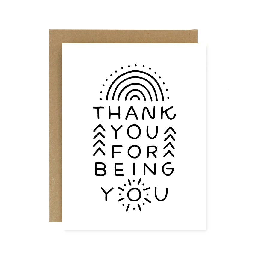 """Thank You For Being You"" Card by Worthwhile Paper"