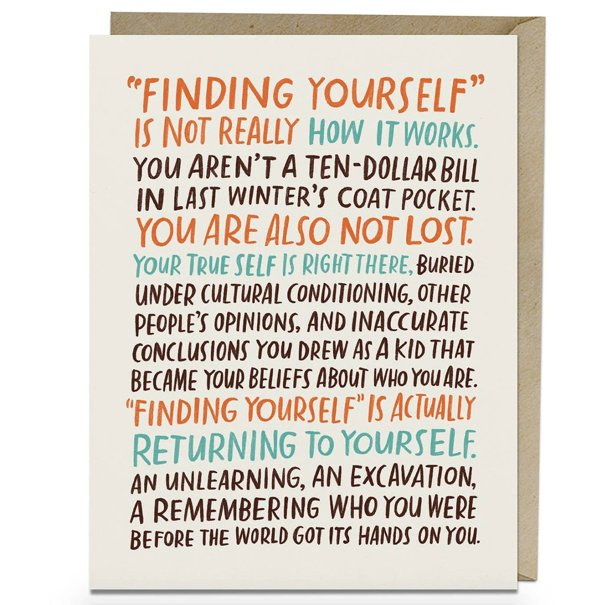 """Finding Yourself"" Card by Emily McDowell"