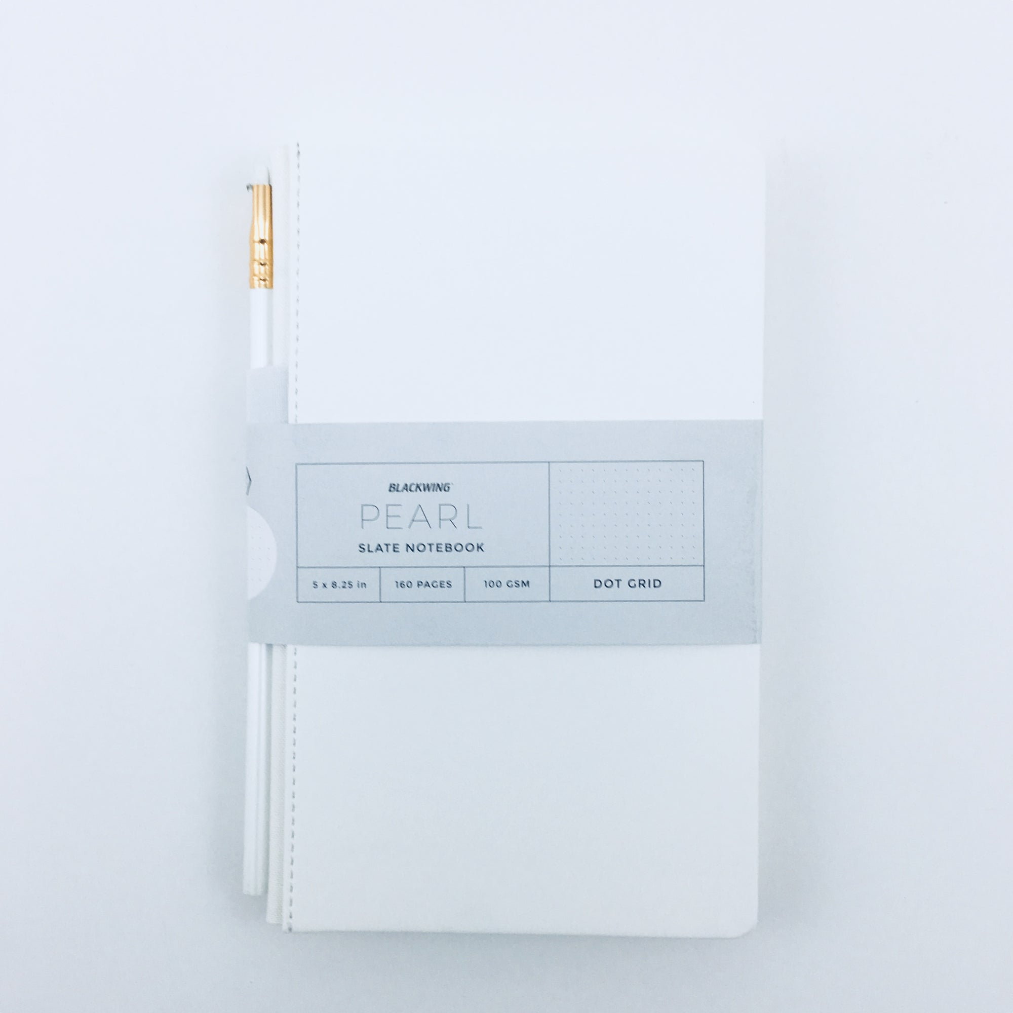 Pearl Travel Notebook with Pearl Pencil by Blackwing