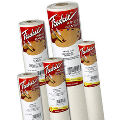 Fredrix Cotton Canvas Unprimed Roll - 72 in x 6 yd - by Fredrix - K. A. Artist Shop