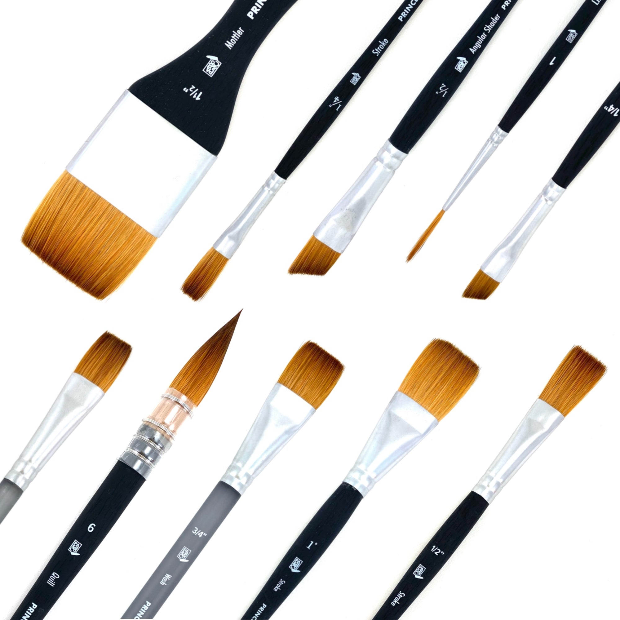 Aqua Elite Synthetic Kolinsky Sable Watercolor Brushes