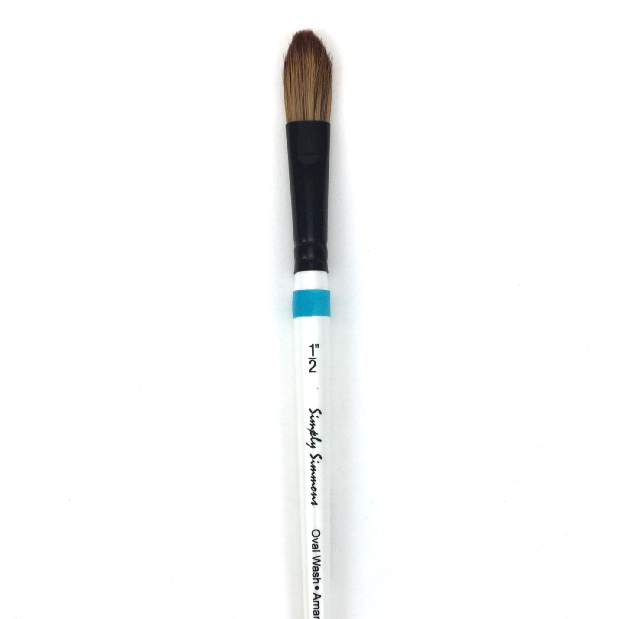 Robert Simmons Simply Simmons Watercolor Brush (Short Handle) - Oval Wash / - 1/2 inches / - natural by Robert Simmons - K. A. Artist Shop
