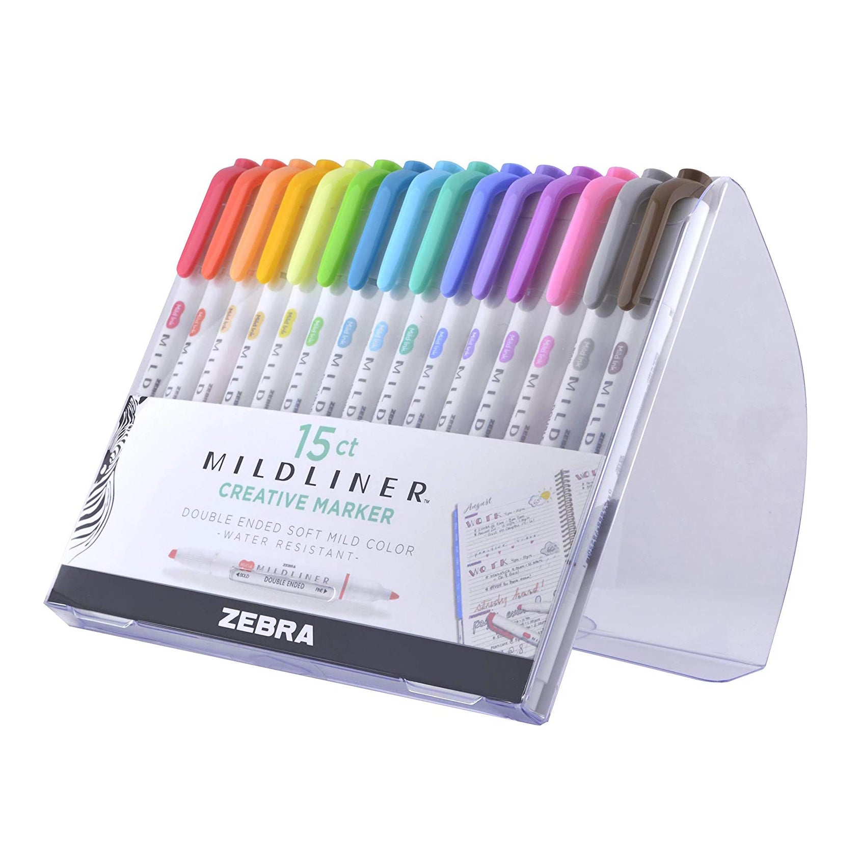 "Zebra ""Mildliner"" Double-Ended Highlighter - 15 piece set"