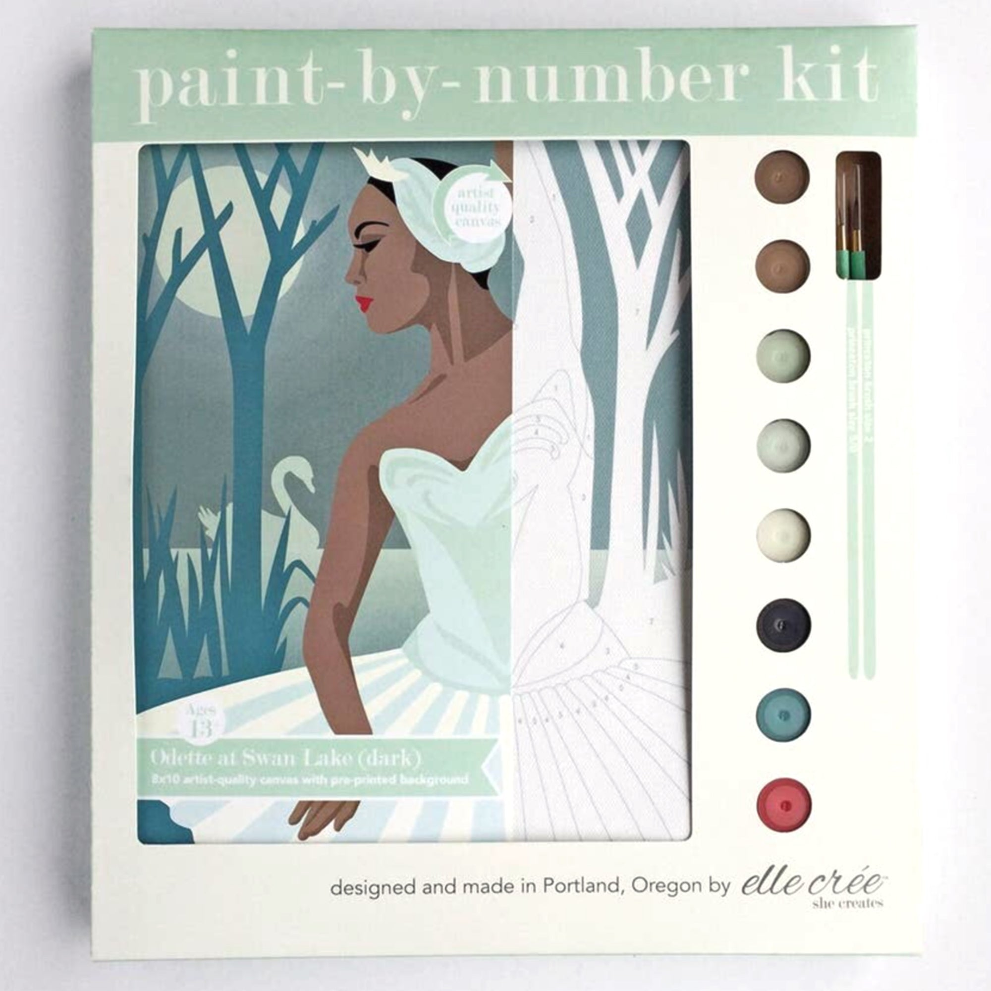 """Odette at Swan Lake"" Paint-by-Number Kit by elle crée"