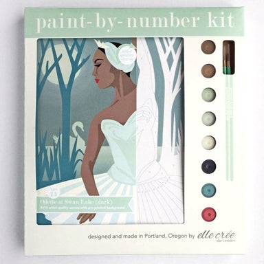 """Odette at Swan Lake"" Paint-by-Number Kit by elle crée - by elle crée - K. A. Artist Shop"