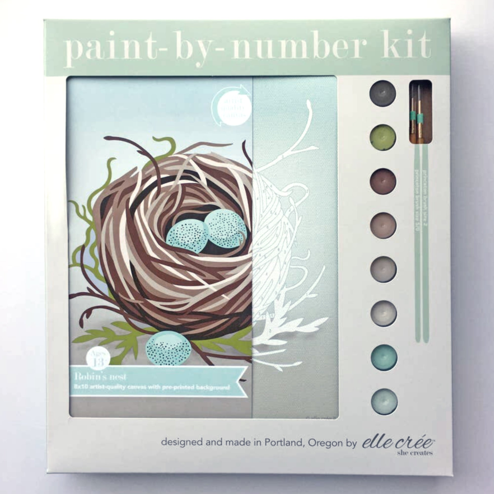 """Bird's Nest"" Paint-by-Number Kit by elle crée"