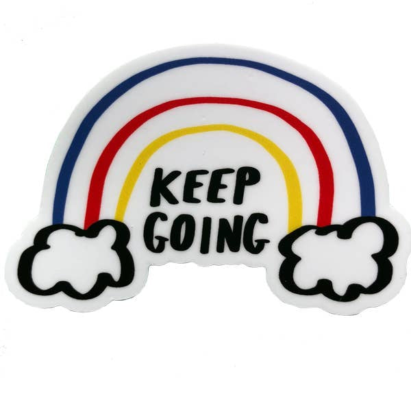 """Keep Going"" Rainbow Sticker by Culture Flock - by Culture Flock - K. A. Artist Shop"
